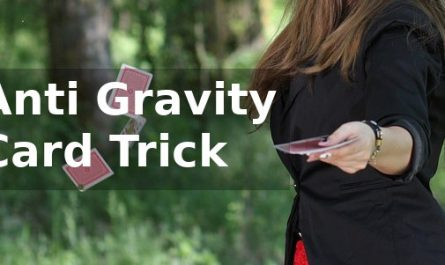 Anti Gravity Card Trick