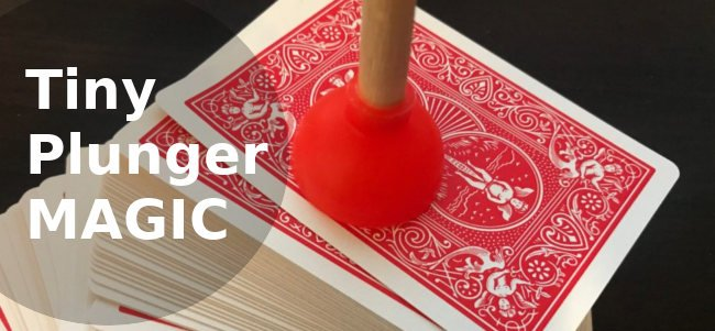 How to do the Tiny Plunger Card Magic Trick